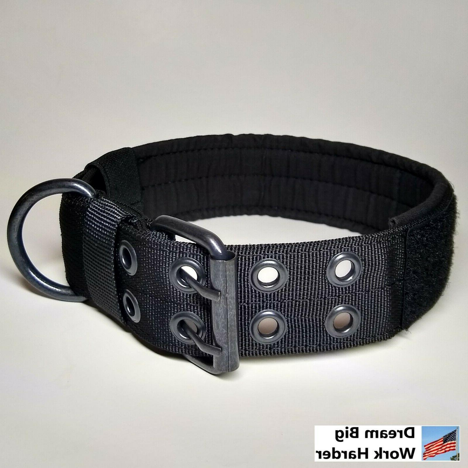 Large Heavy Duty Nylon Dog Tactical Military with Metal Buckle