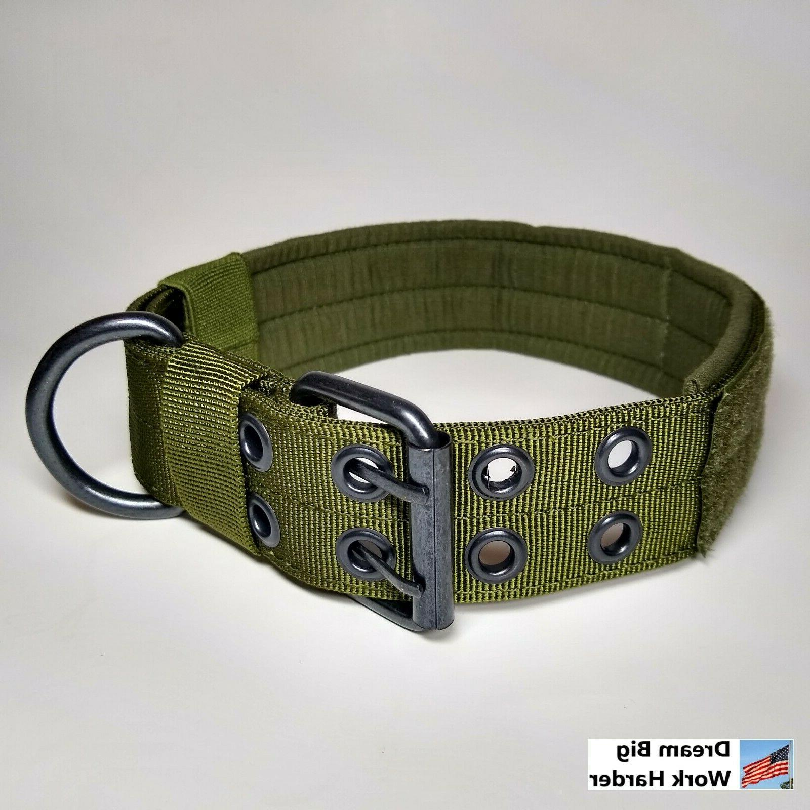 Large Nylon Dog Tactical Military with Metal