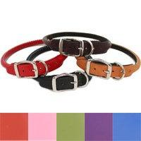 """Auburn Leathercrafters Rolled Leather Dog Collar - 1"""" X 18"""