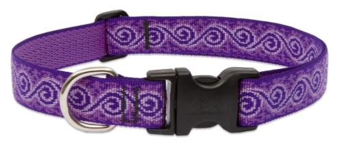 Lupine 1 Inch Jelly Roll Adjustable Dog Collar for Medium an