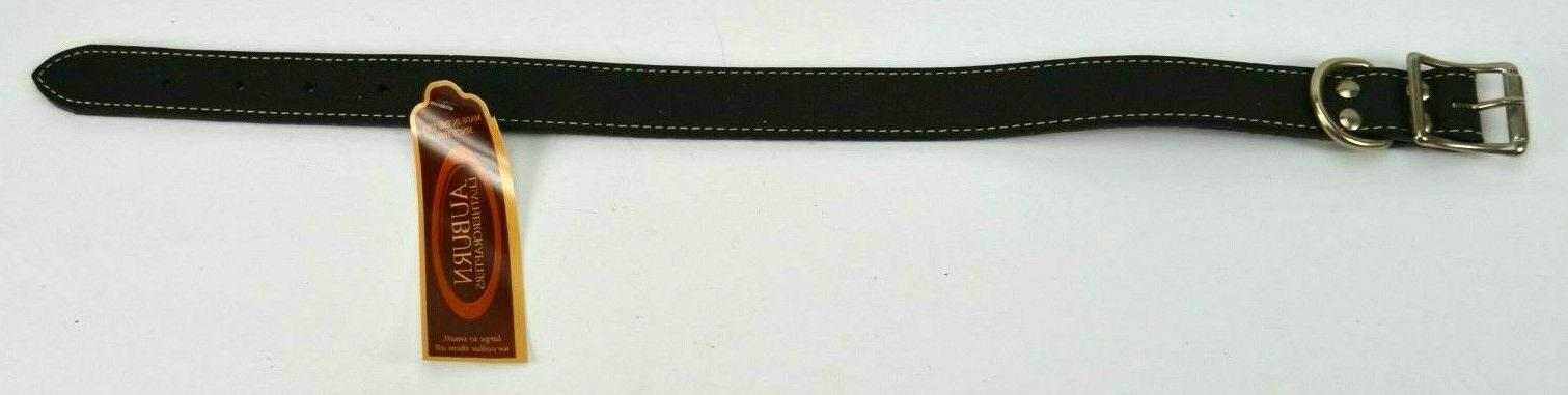 new collection black leather dog collar made
