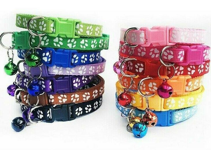 Pet Collars Dog Puppy Cat Printed Bell