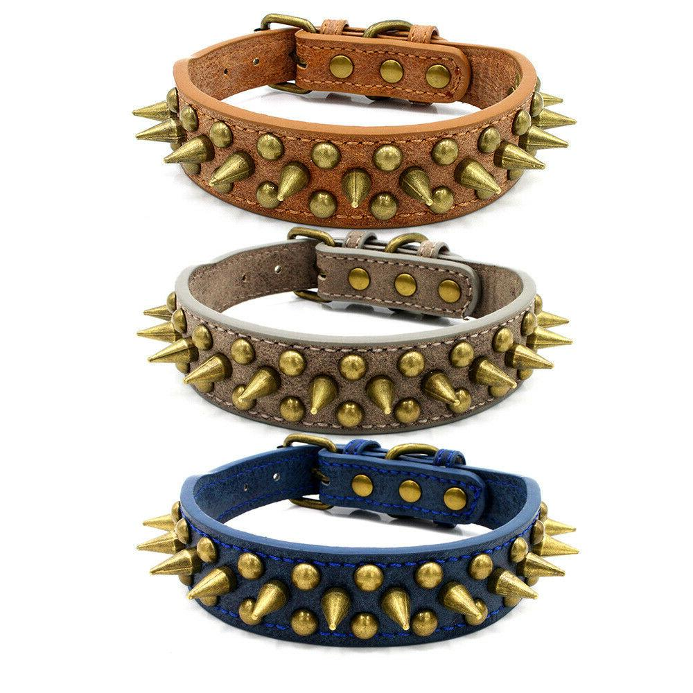 Retro Studded Spiked Large Collar