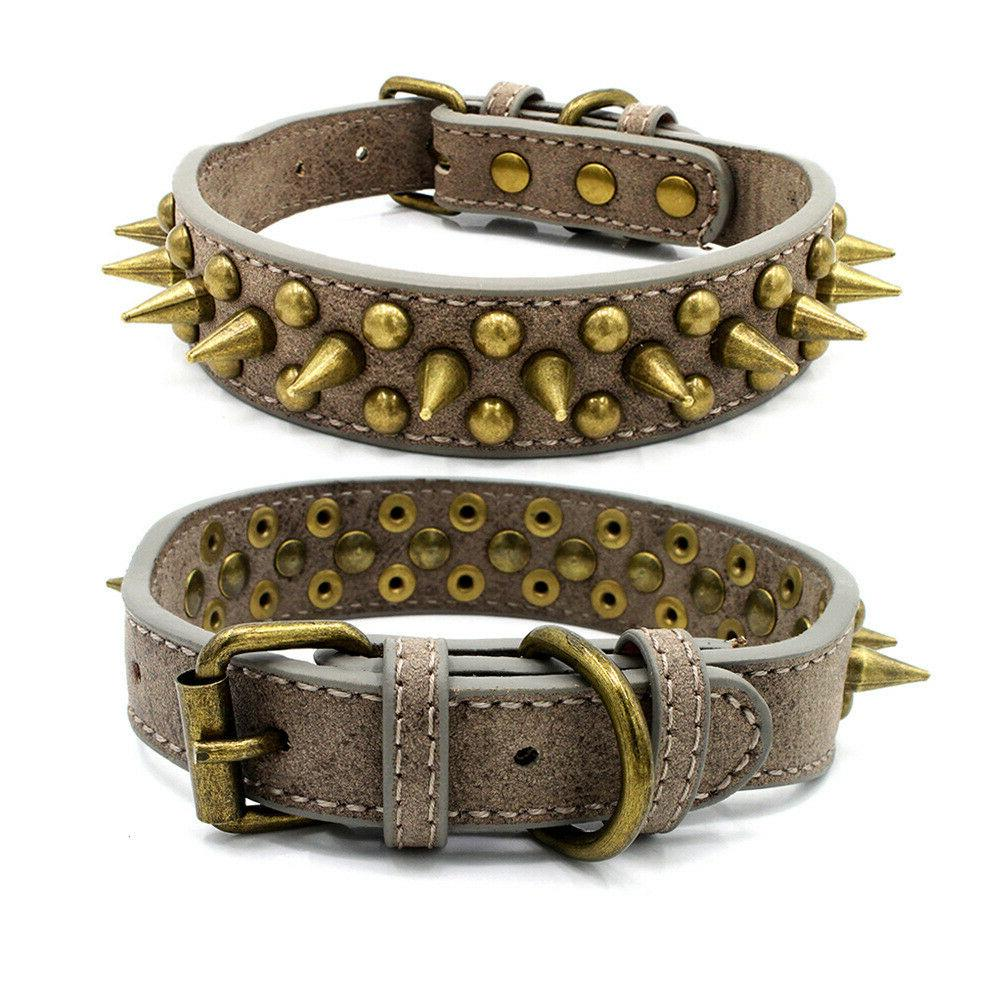 Retro Spiked Large Pet Collar Pit