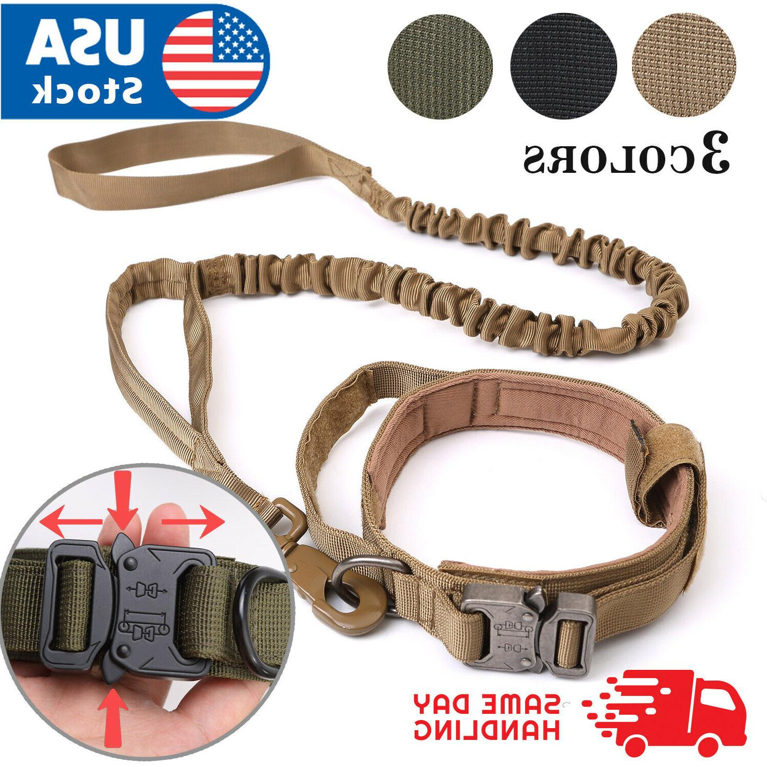 tactical k9 dog training collar leash