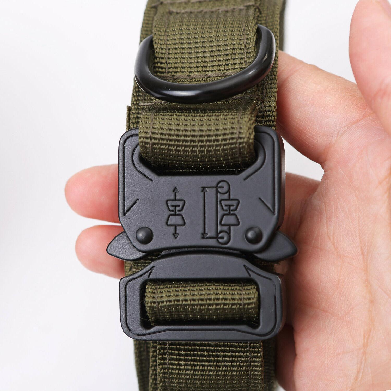 Tactical K9 Dog Collar+Leash for Duty