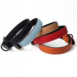 Leepets Fashion Leather Dog Collar with Neoprene Padded for