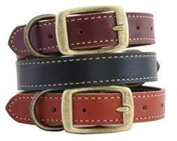 Leather Lake Country Stitched Dog Collar - 20 - Burg