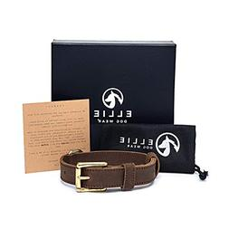 Ellie Dog Wear - Luxury 100% Full Grain Leather Dog Collar w