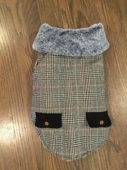 NEW Friends Forever Dog Tartan Plaid Faux Fur Lined Collared
