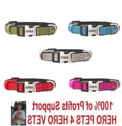 NEW Kong Padded Comfort Dog Collar S M L XL Red Blue Green P