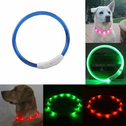 New Rechargeable USB Waterproof LED Flashing Light Band Safe