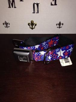 NEW WT Small Wide Size Buckle Down Red, White, Blue Stars Do