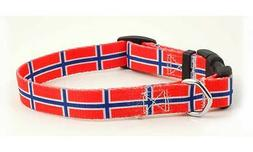 Norway Norway Flag Dog Pet Collar by PatriaPet for Small Med