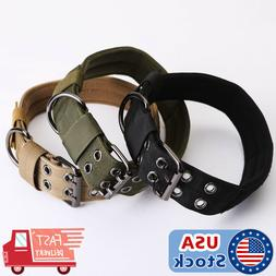 Nylon Dog Training Collars Canine Military Tactical Collar f