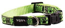 Premium Pattern Ribbon Designer Dog Collar for Small Dogs, A