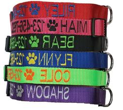 Personalized Customized Embroidered Dog Collar Adjustable Ny