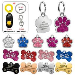 Personalized Dog Tags Engraved Cat Puppy Pet ID Name Collar