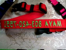 """Personalized Custom Embroidered ,,Adjustable Dog Collars 1"""""""