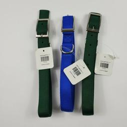 """Pet Dog Collar 1 Inch Wide by 20"""" Inches Long Lot of 3 Green"""