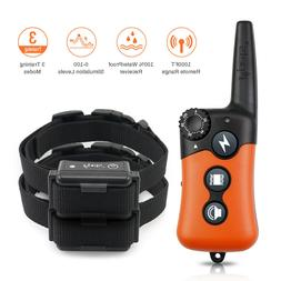 iPets Dog Training Shock Collar Collar with Remote Waterproo