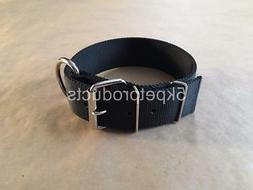 """LARGE DOG COLLAR  2"""" WIDE DOUBLE PLY NYLON HEAVY DUTY DOG CO"""
