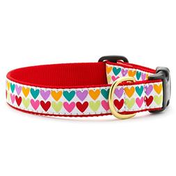Up Country Pop Hearts Dog Collar L ; Wide 1""