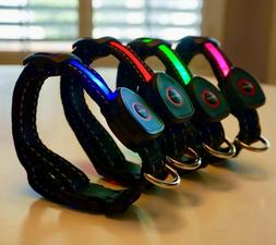 Premium LED Dog Collar USB Rechargeable bright lighted blink