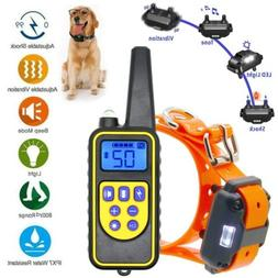 Rechargeable 2600 FT Remote Dog Training Shock Collar Waterp