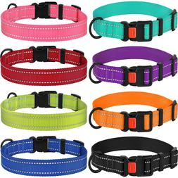 Reflective Dog Collar Safety Nylon Collars for Dogs Puppy wi