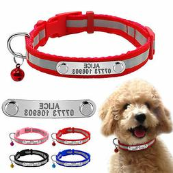 Reflective Personalized Dog Collars Puppy Small Dog Cat Coll