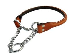 Auburn Leathercrafters Rolled Leather Martingale Dog Collar