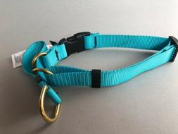 Cetacea Soft Martingale Dog Collar with Quick Release Teal-X