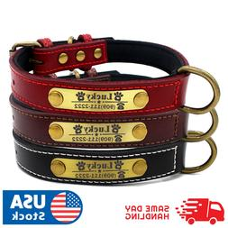 Custom Dog collar leather personalized Brass Name Plate  sma