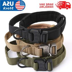 Tactical Military K9 Dog Training Collar with Metal Buckle f