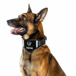 OneTigris Tactical Nylon Dog Collar Padded Collar With Patch
