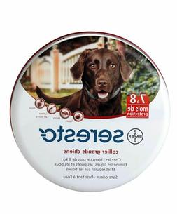 USA  For Large Dog Over 18 lbs Bayer SELLER~ SERESTO 8 Month