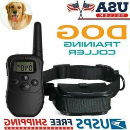 Waterproof Dog Shock Training Collar With Remote Electric Tr