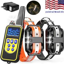 Waterproof Dog Training Electric Collar Rechargeable Remote