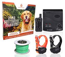 Wireless Combo Electric Dog Fence System with Remote Dog Tra